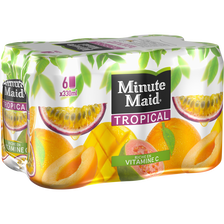 Jus de fruits tropicaux à base de jus de fruits concentré MINUTE MAID,pack 6x33cl