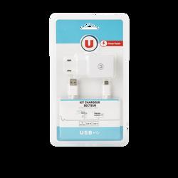 Chargeur secteur U avec cable USB-C
