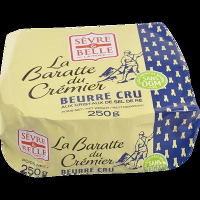 Beurre baratte cremier cristaux sel île de Ré SEVRE & BELLE, 250g