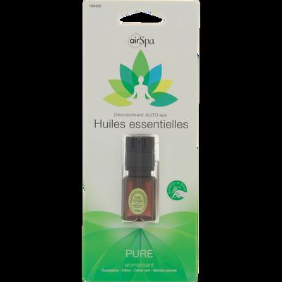 Diffuseur de parfum Pure, AIR SPA, pour aérateur, à base d'huilesessentielles d'eucalyptus, citron, citron vert et menthe