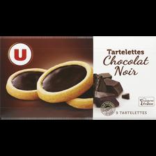 Tartelettes chocolat noir U, paquet de 125g