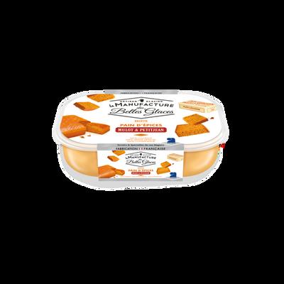 Crème glacée au pain d'épices Mulot & Petitjean manufacture des bellesglaces 750ml / 487,5g