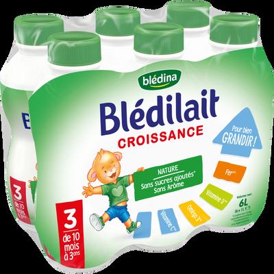 Blédilait croissance 10mois/3ans BLEDINA, 6 x 1 litre