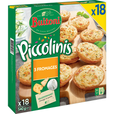 Piccolinis 3 fromages BUITONI x18,540g