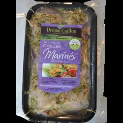 Filet de caille mariné provençale, barquette, 250g