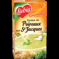 Fondue de poireaux et St Jacques les gourmandes LIEBIG, brique de 1l