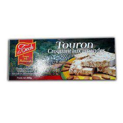 TOURON CROQUANT AUX AMANDES, POIDS NET 200G