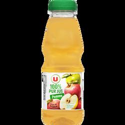 Pur jus de pomme U, bouteille en plastique de  50cl