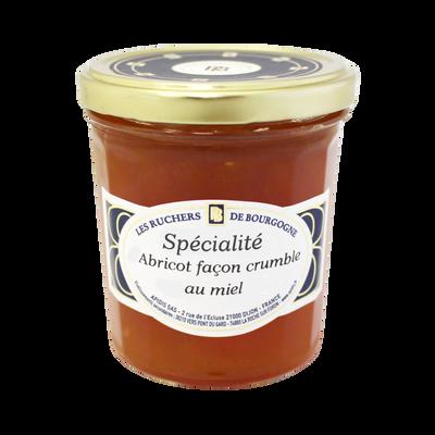 Abricots façon crumble au miel LES RUCHERS DE BOURGOGNE, 375g