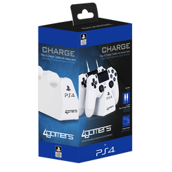 Cable SONY usb X2 play and charge avec support manettes PS4 blanc