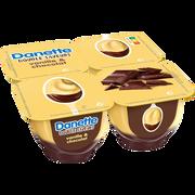 Danone Danette À La Vanille Sur Lit De Chocolat, 4x125g