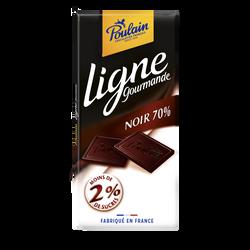 Chocolat noir sans sucre Ligne Gourmande POULAIN, 100g