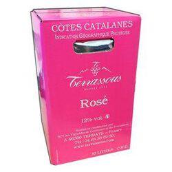 BIB Rosé Vin de Pays, Cotes Catalanes, 10L TERRASSOUS