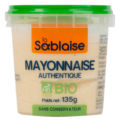 Mayonnaise authentique bio LA SABLAISE, 135g