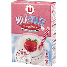 Milk shake fraise U, 8 sticks, 224g