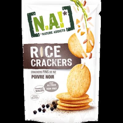 N.A rice crackers poivre noir, sachet de 70g