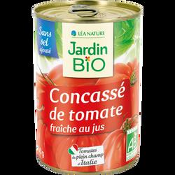 Concassé de tomates morceaux bio JARDIN BIO 400g