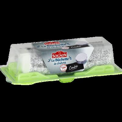 Fromage au lait de chèvre pasteurisé cendrée bûche SOIGNON, 19% deMG, 150g