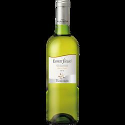 Vin blanc sec Côtes de Gascogne IGP Esprit Fleuri, 75cl