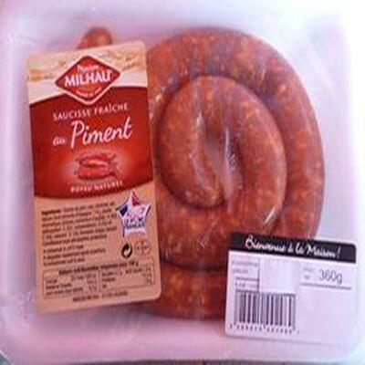 """Saucisse au piment """"MILHAU""""  360 gr"""