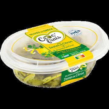 Croc' frais Olives Vertes Dénoyautées Aux Zestes De Citrons Et Persil, Croc'frais,barquette 200g