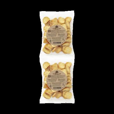 Croûtons aromatisés à l'ail LE MARMITON, lot de 2 sachets de 100g