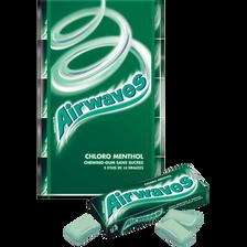 Chewings gum sans sucre chlorophylle menthol AIRWAVES, 5x10 dragées, 70g