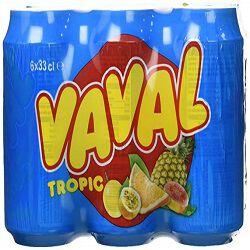 Soda aux fruits tropical, VAVAL, le pack de 6x33cl