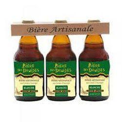 """Bière blanche artisanale aux céréales d'Auvergne """"bières des druides"""" 3x33cl"""