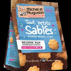Touts petits sablés au beurre AOP de Charente Poitou MICHEL ET AUGUSTIN, 90g