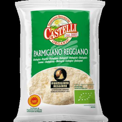 Parmigiano Reggiano râpé AOP bio lait cru 30% de MG CASTELLI, 50g