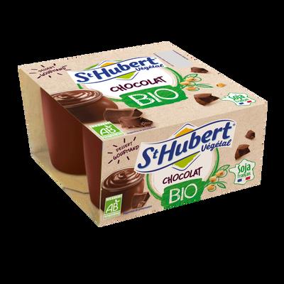 Yaourt au soja bio chocolat ST HUBERT, 4x100g
