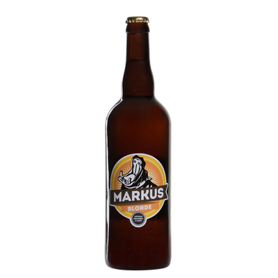 Bière blonde MARKUS 5°, bouteille de 75cl
