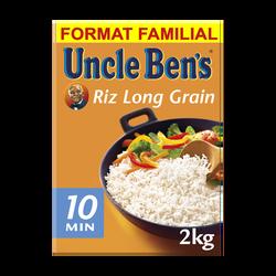 Riz long grain cuisson 10min UNCLE BEN'S, 2kg