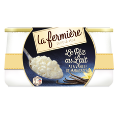 La Fermière Riz Au Lait Vanille, , 2 Unités De 160g
