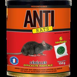 Raticide céréales ANTI, efficacité radicale, rats, 150g