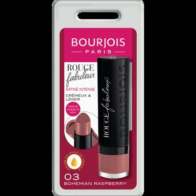 Rouge à lèvres fabuleux 003 bohemian raspberry BOURJOIS, blister, 2,4gr