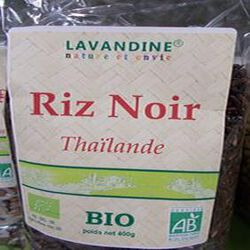 riz noir thailande bio 400g