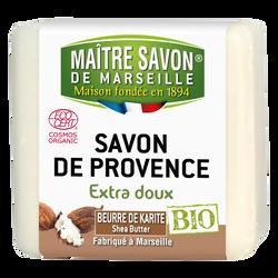 Savon bio beurre de karité MAITRE SAVON DE MARSEILLE, 100g