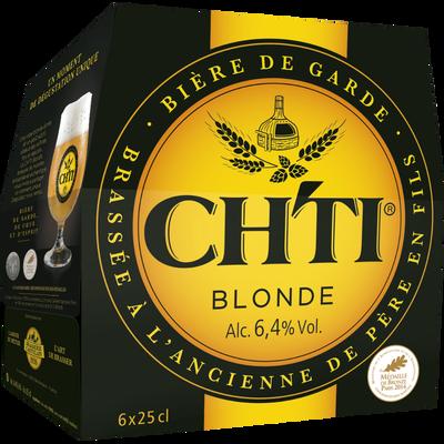 Bière blonde CH'TI, 6,4°, 6x25cl