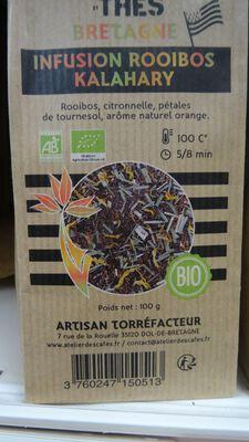 infusion rooibos kalahary bio 100gr atelier des cafés