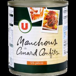 Manchons canard confits U, boîte de 425g