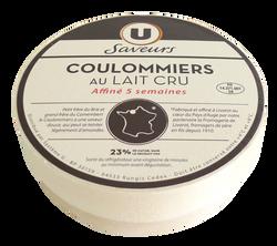 Coulommiers Sélection au lait cru U LES SAVEURS, 23%MG, 380g