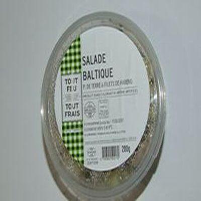 Salade Baltique, pomme de terre et filets de harengs, barquette de 200g, BREDIAL