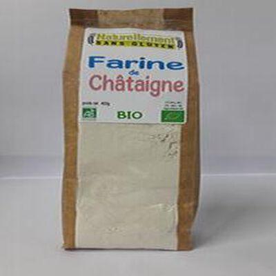 Farine de châtaigne Bio NATURELLEMENT SANS GLUTEN  400G