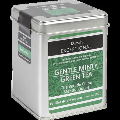 Thé vert de Chine menthe douce DILMAH, sachet de 100g