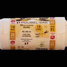 Sac poubelle vanille, 25x15L