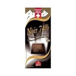 Tablette de chocolat noir 74% de cacao, CHOCO SUISSE, 100g