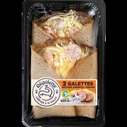 Galettes de sarrasin à la saucisse et à l'emmental REGALETTE, 2x150g