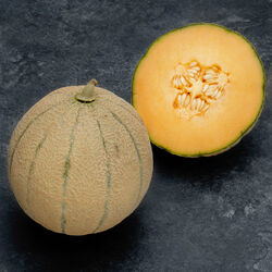 Melon charentais jaune, BIO, calibre 1350/1750g, catégorie 1, France,la pièce